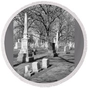 Cemetery 3 Round Beach Towel