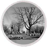 Cemetery 5 Round Beach Towel
