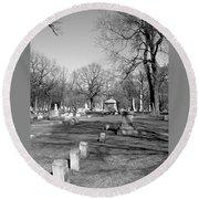 Cemetery 7 Round Beach Towel