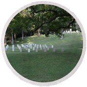 Cemetery At Shiloh National Military Park In Tennessee Round Beach Towel