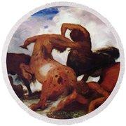 Centaurs 1873 Round Beach Towel