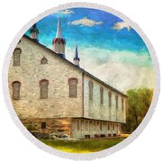 Centennial Barn Round Beach Towel