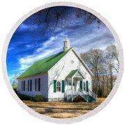 Centennial Christian Church Est 1909 Round Beach Towel