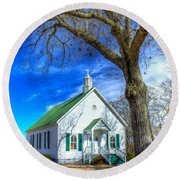 Centennial Christian Church Rural Greene County Georgia Round Beach Towel