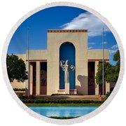 Centennial Hall At Fair Park - Dallas Round Beach Towel