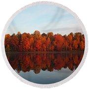 Centennial Lake Autumn - In Full Autumn Bloom Round Beach Towel