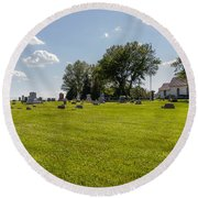 Center Ridge Cemetery Round Beach Towel