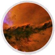 Center - Triptych - Stellar Spire In The Eagle Nebula Round Beach Towel