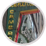 Central Camera Round Beach Towel