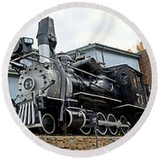 Central City Locomotive Round Beach Towel