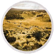Central Highlands Of Tasmania Round Beach Towel