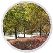 Central Park New York Round Beach Towel