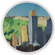 Central Park Nyc Round Beach Towel