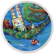 Central Park West Round Beach Towel