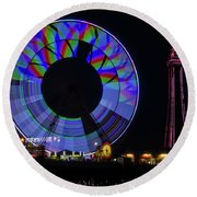 Central Pier Blackpool Round Beach Towel