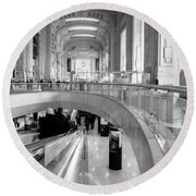 Central Station Milan 2 Round Beach Towel