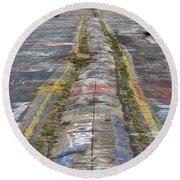 Centralia Graffiti Highway Round Beach Towel