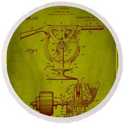 Centrifugal Gun Patent Drawing 3j Round Beach Towel