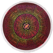 Centrifugal Round Beach Towel