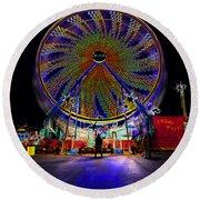 Century Wheel Round Beach Towel
