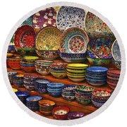 Ceramic Dishes Round Beach Towel
