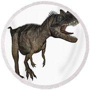 Ceratosaurus Dinosaur Roaring Round Beach Towel