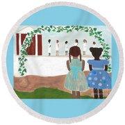 Ceremony In Sisterhood Round Beach Towel