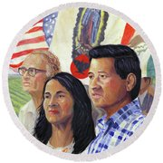Cesar Chavez And La Causa Round Beach Towel