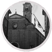 Cesena - Italy - The Cathedral 3 Round Beach Towel