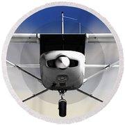 Cessna 152 Flying High Round Beach Towel