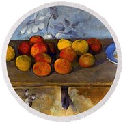 Cezanne: Apples & Biscuits Round Beach Towel