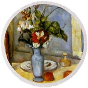 Cezanne: Blue Vase, 1885-87 Round Beach Towel