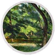 Cezanne: Etang, 1877 Round Beach Towel