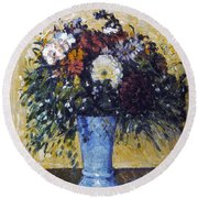 Cezanne: Flowers, 1873-75 Round Beach Towel