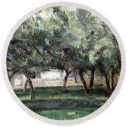 Cezanne: Le Clos Normand Round Beach Towel