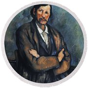 Cezanne: Man, C1899 Round Beach Towel