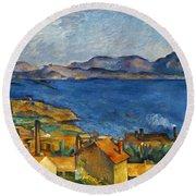 Cezanne Marseilles 1886-90 Round Beach Towel