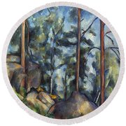 Cezanne: Pines, 1896-99 Round Beach Towel