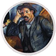 Cezanne: Pipe Smoker, 1900 Round Beach Towel