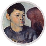 Cezanne: Portrait Of Son Round Beach Towel