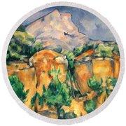 Cezanne: Sainte-victoire Round Beach Towel