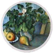 Cezanne: Still Life, C1888 Round Beach Towel