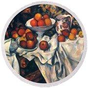 Cezanne: Still Life, C1899 Round Beach Towel