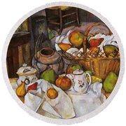 Cezanne: Table, 1888-90 Round Beach Towel