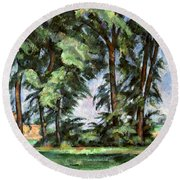 Cezanne: Trees, C1885-87 Round Beach Towel