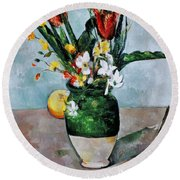 Cezanne: Tulips, 1890-92 Round Beach Towel