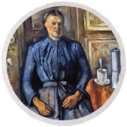 Cezanne: Woman, 1890-95 Round Beach Towel