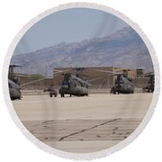 Ch-47 Chinook Helicopters On The Flight Round Beach Towel