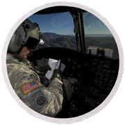 Ch-47 Chinook Pilot Refers Round Beach Towel