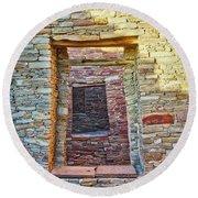 Chaco Canyon Windows Round Beach Towel